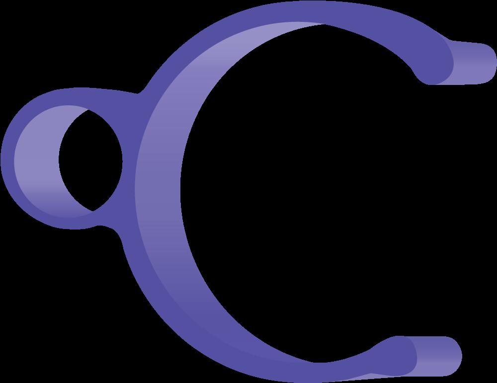 blue 2 inch clip