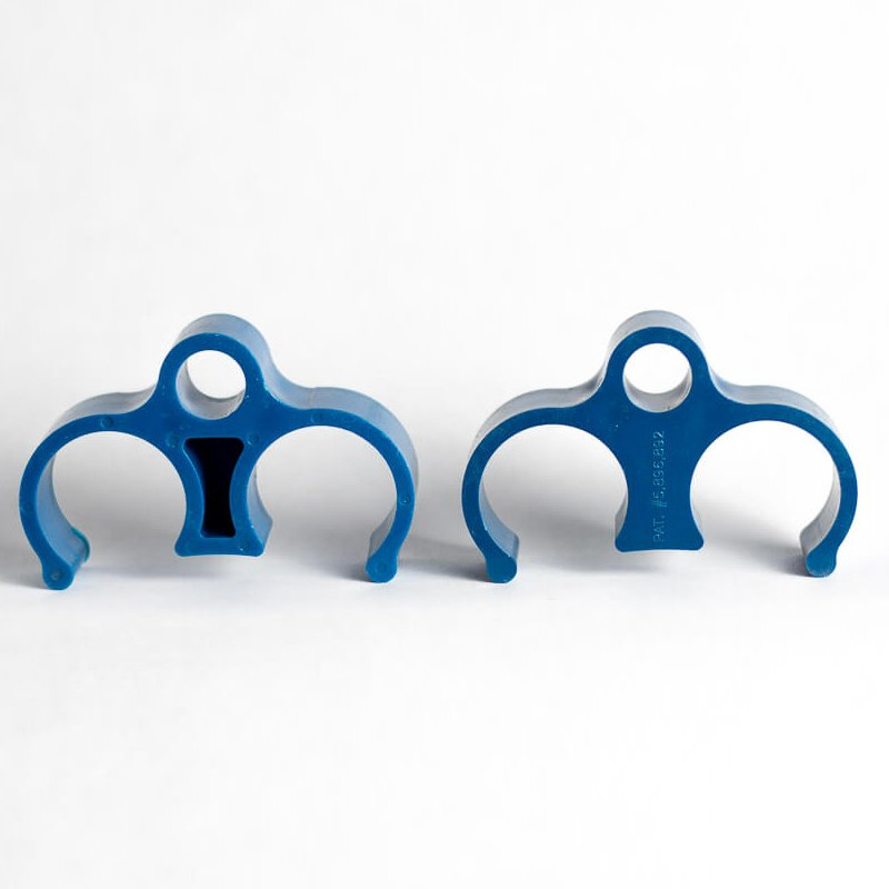 """1"""" rigid conduit spacer with support - blue"""